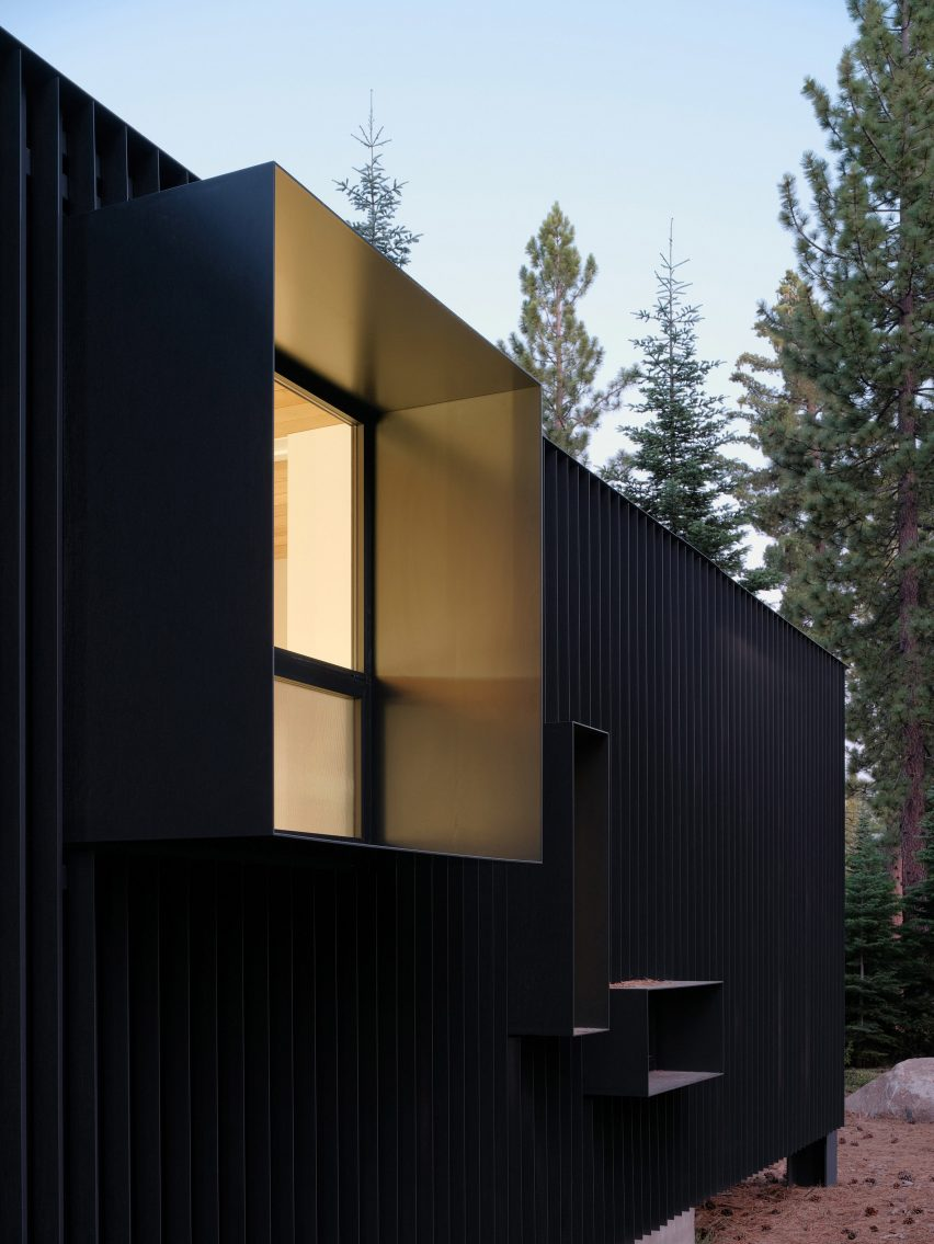 Exterior of Forest House in California