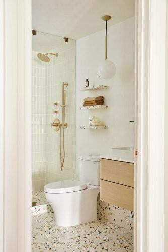 See the Transformation of This Fun Yet Sophisticated Scandinavian-Inspired Bathroom
